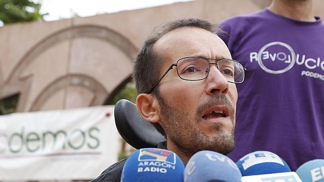 Pablo Echenique, candidato de Podemos a la Presidencia del Gobierno aragonés