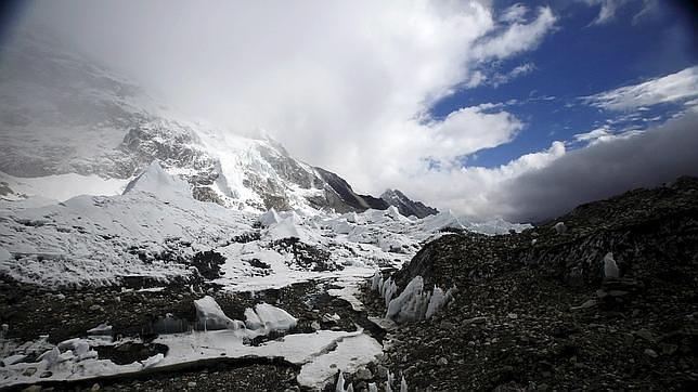 Una de las zonas del campamento base del Everest