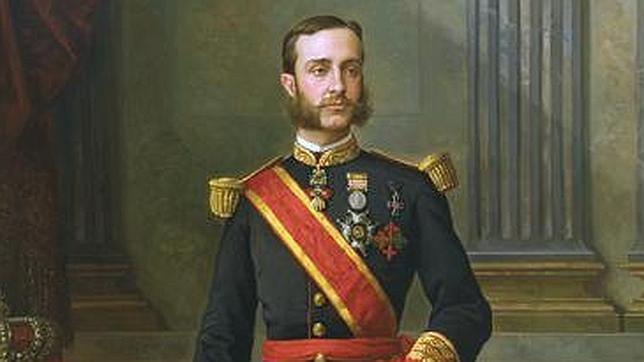 Pintura del Rey Alfonso XII