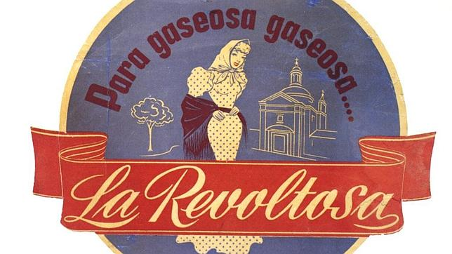 Anuncio de gaseosa La Revoltosa que data de 1950