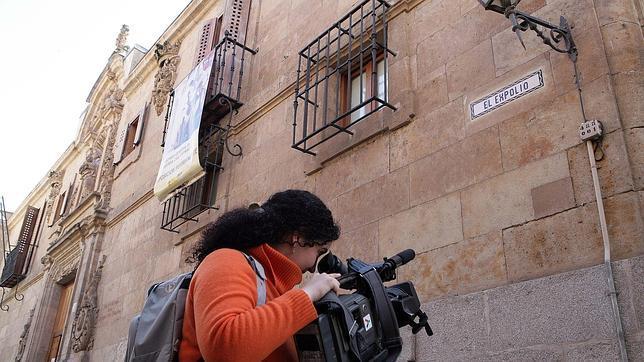 La calle Gibraltar de Salamanca donde se ubica el archivo histórico de la guerra cívil, ha pasado a ser la calle «el expolio»