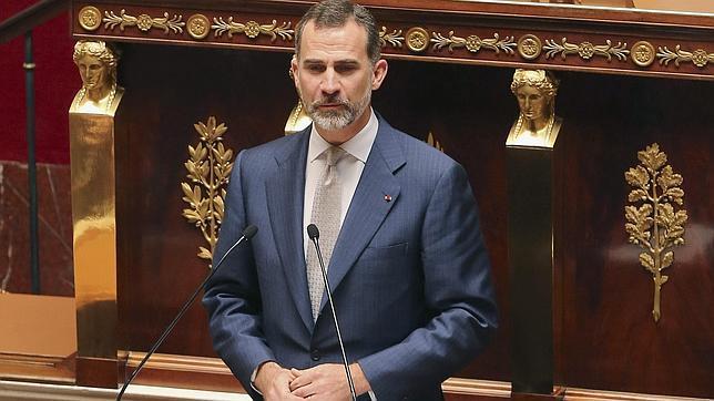 El Rey se ha dirigido a la Asamblea Nacional francesa