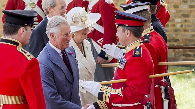El Príncipe Carlos en las celebraciones de la Batalla de Waterloo