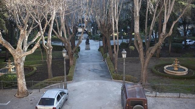 Los jardines del Palacio de Buenavista, en el Cuartel General del Ejército