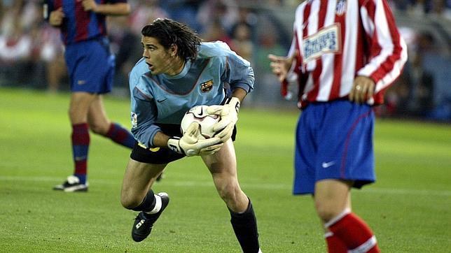 Valdés debutó con el Barcelona en 2002 frente al Atlético de Madrid