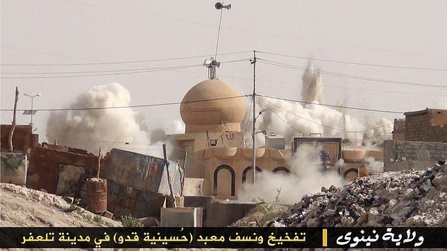 Destrucción de un santuario chií en territorio controlado por Estado Islámico