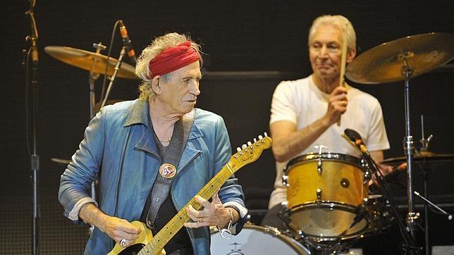 Richards en una presentación de los Rolling Stones en 2012