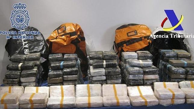 Fotografía de archivo de la incautación de 160 kilogramos de cocaína facilitada por la Policía Nacional