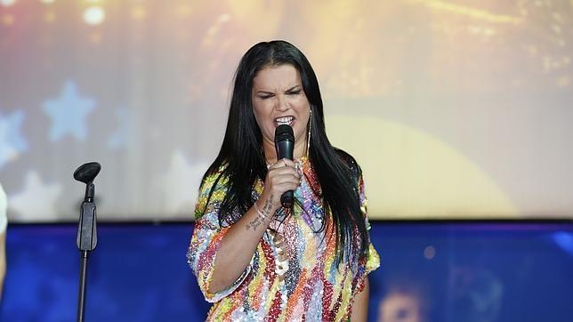 Kátia en la presentación de su disco en 2013