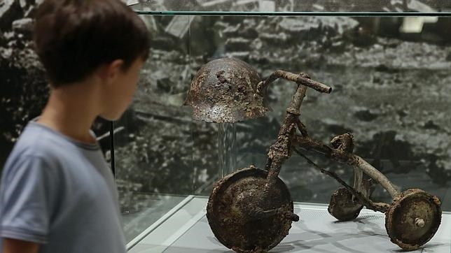 Restos del ataque nuclear en Hiroshima