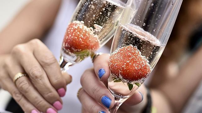 El champán es una bebida refrescante y muy saludable