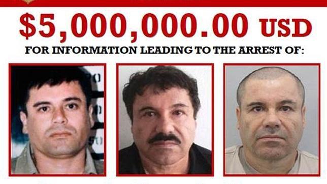EE.UU. ofrece cinco millones de dólares por cualquier información que conduzca a la captura del narco mexicano «El Chapo» Guzmán