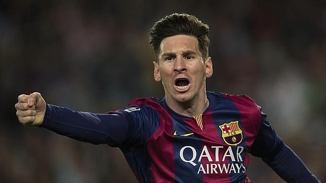 Leo Messi celebra el título liguero conseguido la temporada pasada