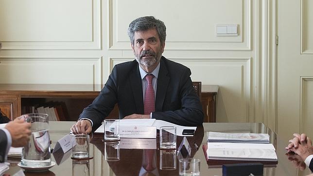 El presidente del CGPJ, Carlos Lesmes