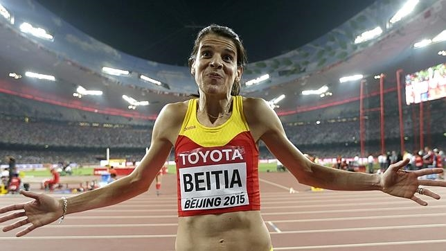 Ruth Beitia en el reciente Mundial de Pekín