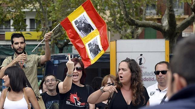 Manifestación ante la plaza de toros de Valladolid, el pasado miércoles
