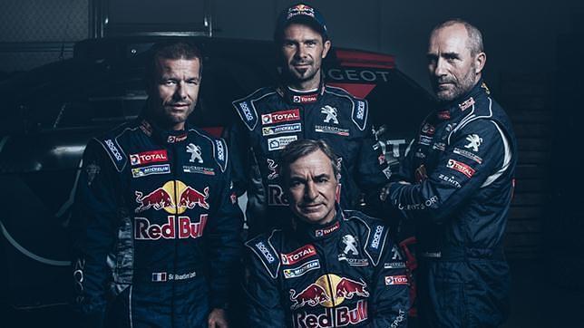 El equipo Peugeot Total para el Dakar 2016 al completo