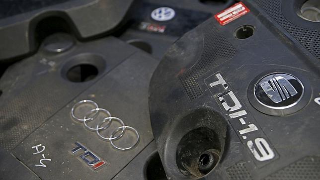 Carcasas del motor TDI procedentes de distintos vehículos