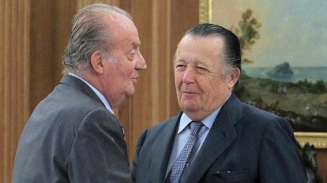 El Rey Juan Carlos junto con el Infante Don Carlos