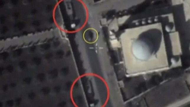 Imágenes cedidas por el Ministerio de Defensa ruso muestran posiciones de Estado Islámico