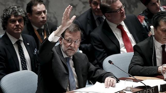 Mariano Rajoy preside la reunión de la ONU