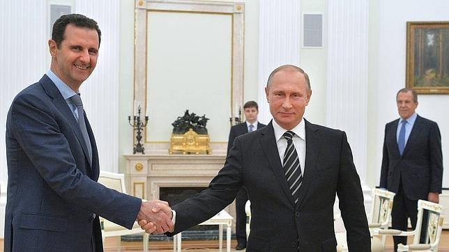 Al Assad y Putin durante su reunión en Moscú