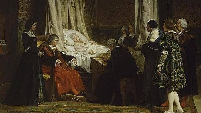 «Doña Isabel la Católica dictando su testamento», pintura de Eduardo Rosales