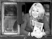 Rowling, en la estación de Londres, el día de la presentación del libro. ABC