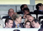 Los Duques de Palma de Mallorca acudieron al palco del Bernabéu. Miguel Berrocal
