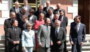 Don Juan Carlos y Don Felipe, con Pilar del Castillo, Joan Clos y Artur Mas, José García