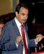 José Luis Rodríguez Zapatero durante su intervención en el debate