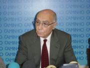 José Saramgo, ayer, durante la presentación del libroBELÉN RODRIGO