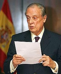 El ex jefe de la Casa del Rey, Sabino Fernández Campo, durante su homenaje. / EFE