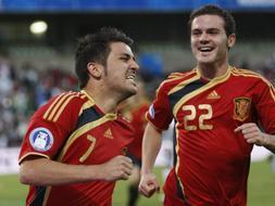 España jugará las semifinales gracias a un gol de Villa./REUTERS