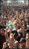 Partidarios de Hamás durante el funeral de los seis milicianos muertos en los combates contra el grupo salisfta Yund Ansar Alá / AP PHOTO