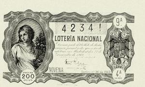 1763: primer sorteo de la Lotería Nacional