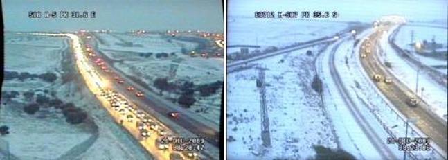 El centro de España, colapsado por el temporal de frío y nieve