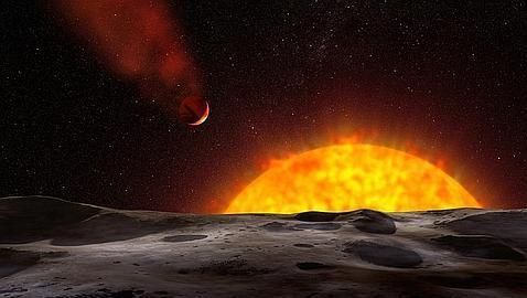 Un planeta tan caliente que se evapora