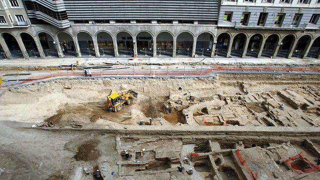 El tranvía de Zaragoza pisará con 90 toneladas los restos del arrabal musulmán de hace mil años