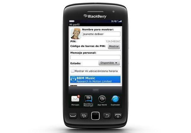 El servicio de música de BlackBerry Messenger llega a España