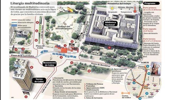 La Misa de la Familia reunirá hoy a un millón de personas en Madrid
