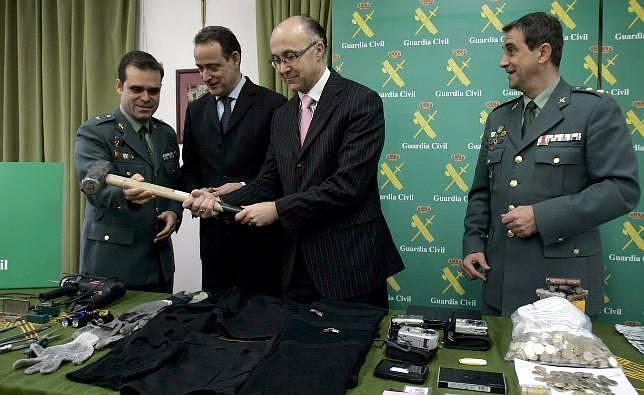 Ruiz Medrano se estrena con una operación contra el robo