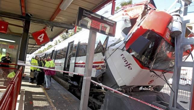Tercer accidente en la red de Cercanías en tres semanas