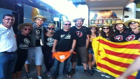 Morera se manifestó en Madrid con independentistas catalanes