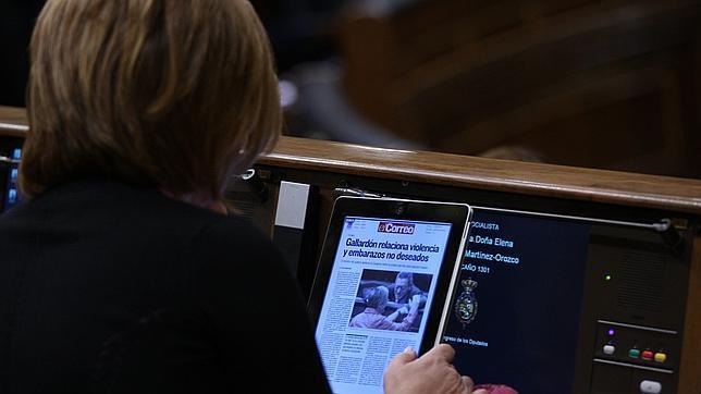 El Congreso se niega a reponer el iPad a los diputados que lo extravíen