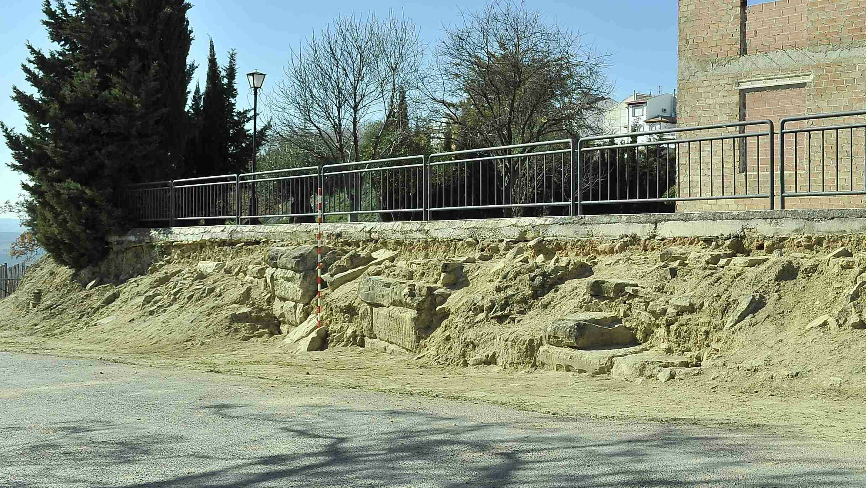 Contrafuerte del anfiteatro descubierto en Porcuna