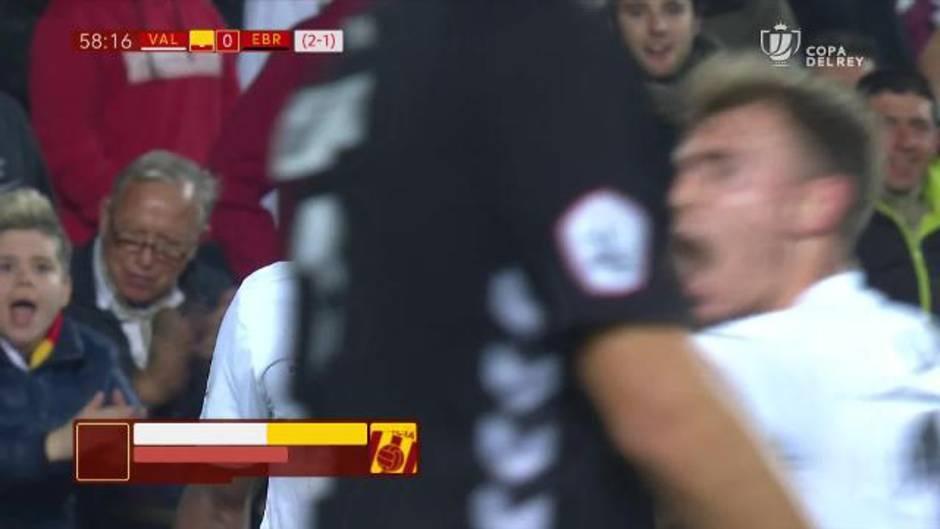 Copa del Rey: Resumen y gol del Valencia CF 1-0 CD Ebro