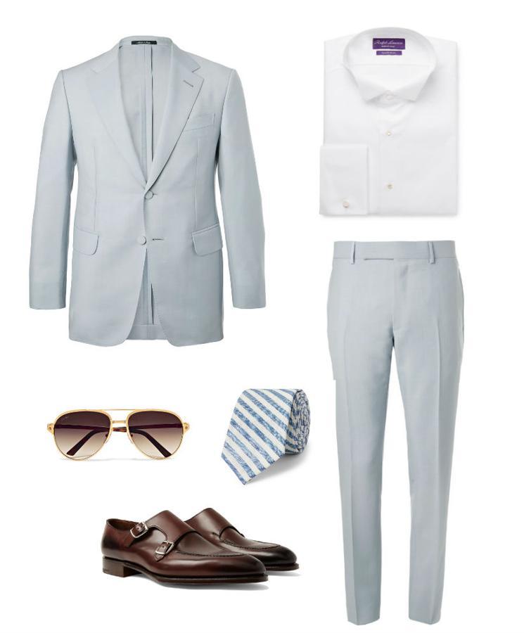 Look con traje claro para ser el más elegante en una comunión