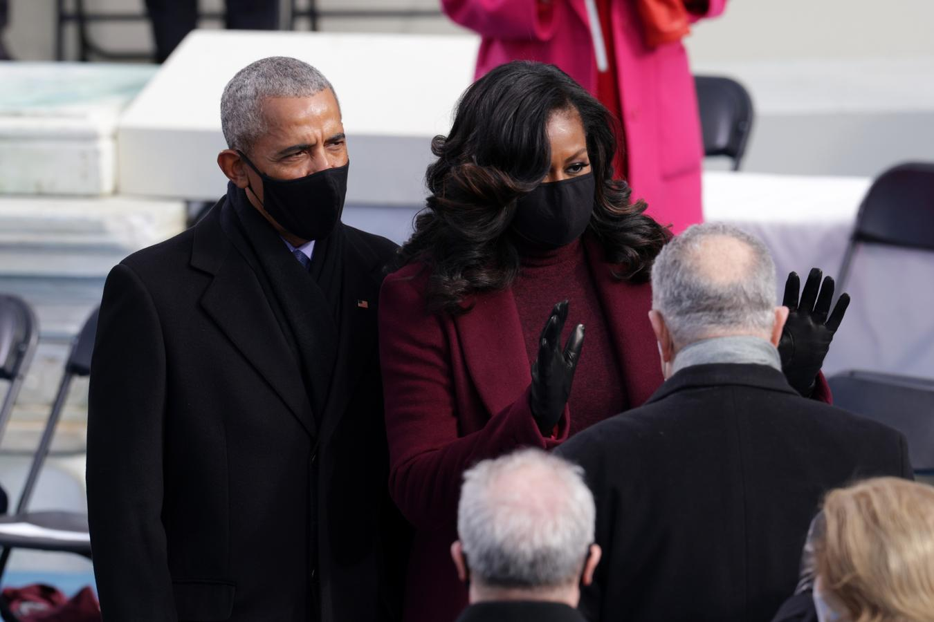 El matrimonio Obama ha acudido a la investidura