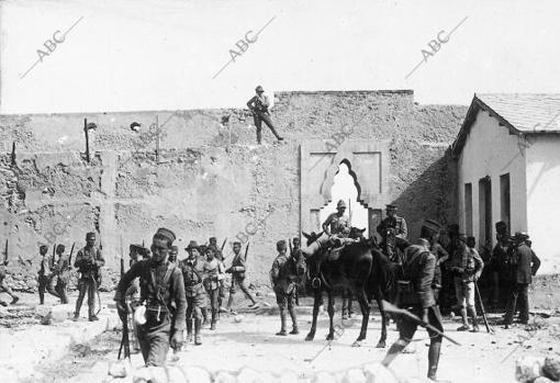 La reconquista de Zeluán. Entrada de las tropas en la Alcazaba